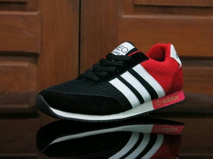 Jual Sepatu Sport Adidas Neo V Racer   Hitam Merah   Casual Pria ... 1d81174c0f
