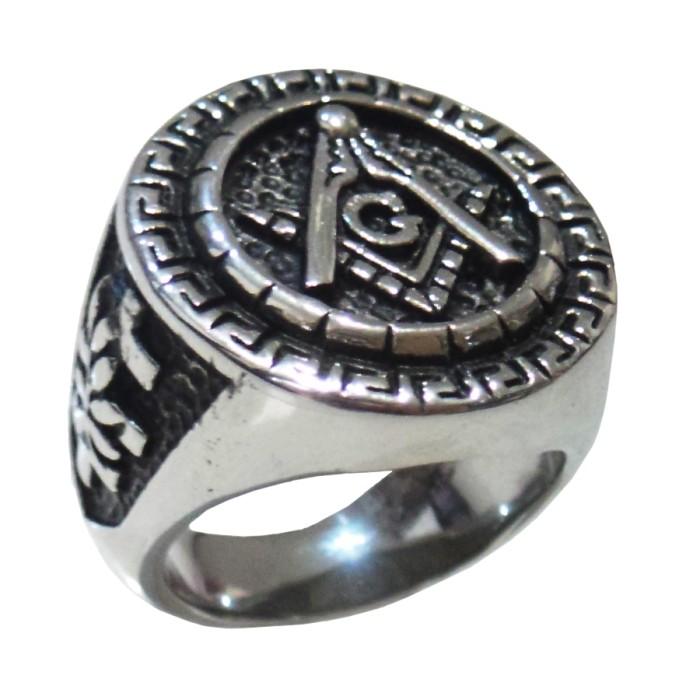 harga Cincin freemasons ring murah masonic ring leaf silver black Tokopedia.com
