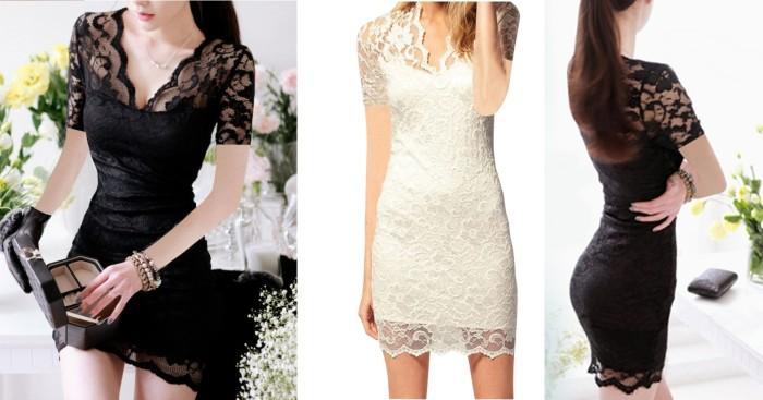 Jual Short Dress Import Gaun Pesta Blouse Brokat Baju Atasan Korea