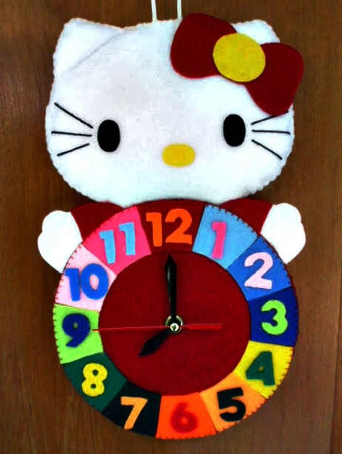 Jual Kreasi Jam Dinding Flanel Lucu Unik Karakter Kartun Hello Kitty ... 3452763e63