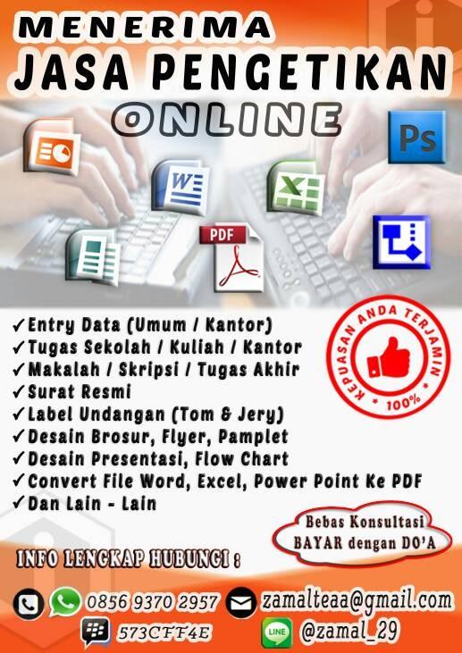 Jual Jasa Pengetikan Online Bekasi Kota Bekasi Hj Store