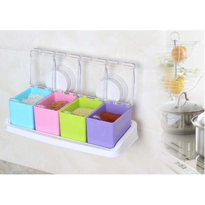 Set Rak Tempat Bumbu Seasoning Box Serbaguna 4 In 1 Crystal Source Jual .