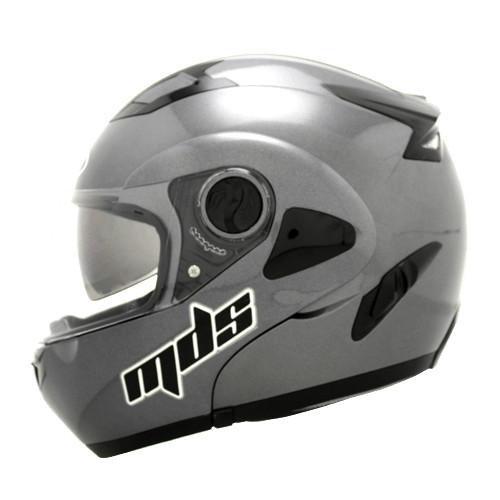 harga Helm mds flip up grey gray full face fullface double visor Tokopedia.com