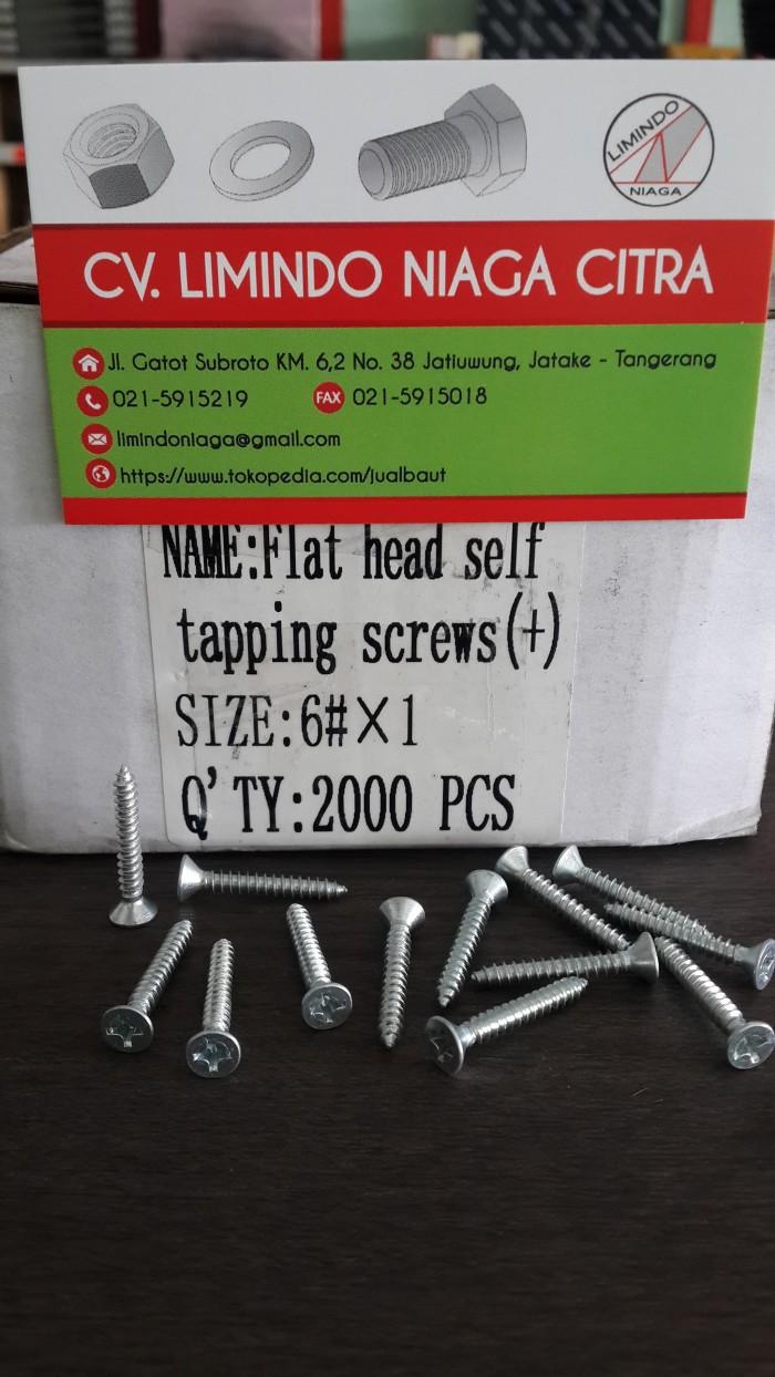Jual Flat Head Screw Sekrup Obeng Kembang Kepala Rata 6 X 1 Set 8 In Multi