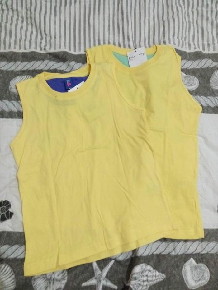 harga Kid shirt polos/ kaos anak cewek cowok/ baju jalan santai kuning biru Tokopedia.com
