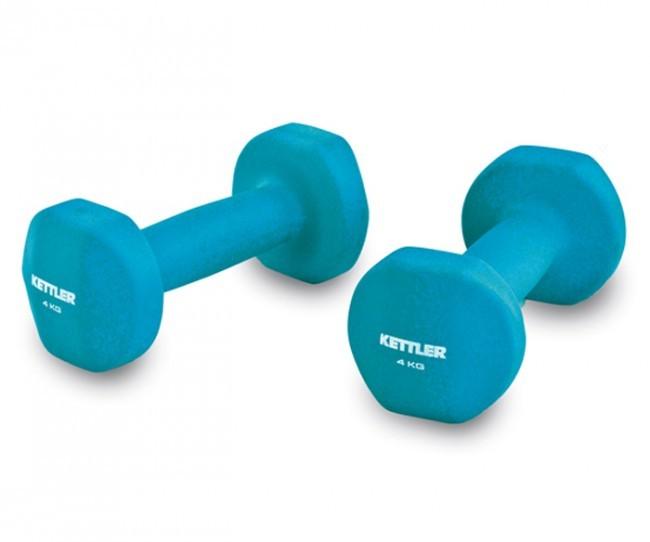 harga Kettler neoprene dumbell (8kg/pair) blue Tokopedia.com