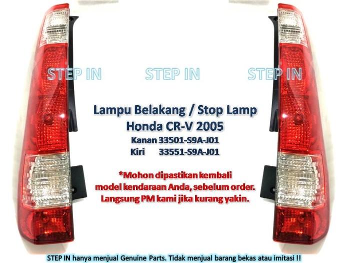 Jual Stop Lamp Lampu Belakang Honda Crv 2005 Genuine Baru Asli Cr