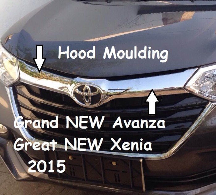 harga Hood moulding / list kap mesin grand new avanza / great new xenia 2015 Tokopedia.com