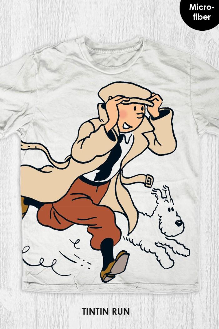 harga Kaos movie cartoon tintin - tintin run Tokopedia.com