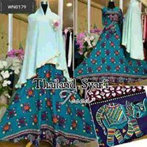 harga Gamis thailand syari dress toska busana muslim etnik busui Tokopedia.com
