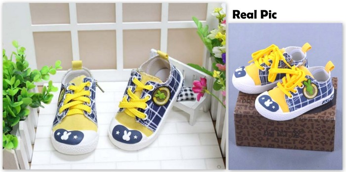 harga Sepatu anak sporty plaid yellow rabbit Tokopedia.com
