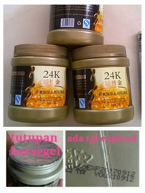 ... 24K ACTIVE GOLD HAIR MASK Repair Hot Oil / MASKER RAMBUT 24K 500ml