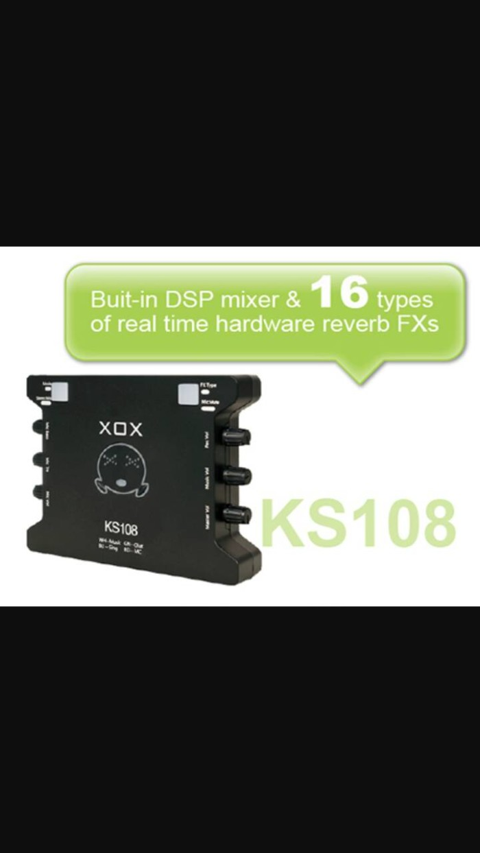 harga Sound card eksternal xox ks108 karaoke recording record audio mic mike Tokopedia.com