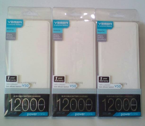 ... harga Original veger slim 12000mah powerbank/power bank Tokopedia.com