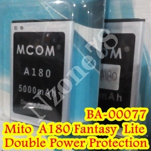 Baterai mito a180 fantasy lite mcom double power protection