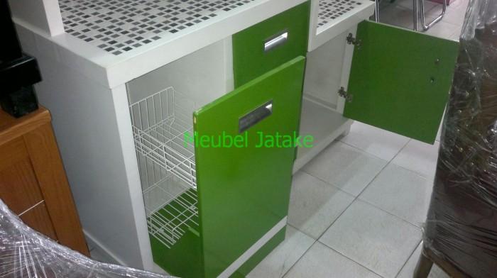 Jual Lemari Sayur Dapur Kayu Keramik Kaca 3 Tiga Pintu