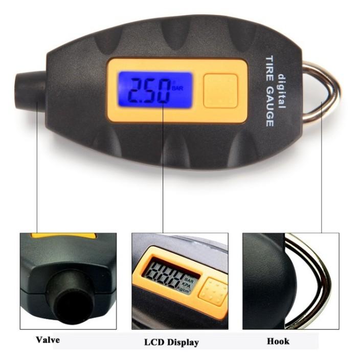harga Digital lcd tire pressure monitor - tg101 - black Tokopedia.com