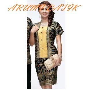 harga Setelan rok blouse / baju / seragam kantor wanita batik 1463 hitam Tokopedia.com
