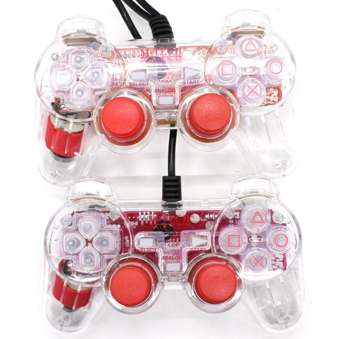 Gamepad M-Tech Transparan Double