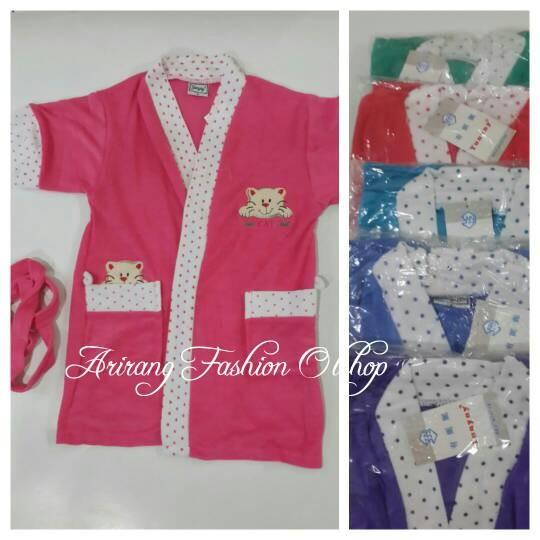 Kimono handuk anak2 teddy bear untuk 3-4 tahun ...