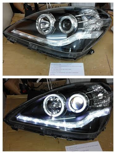 harga Ty1147-b7w2s-bh headlamp avanza/ xenia 07-11 projector angel eyes blk Tokopedia.com