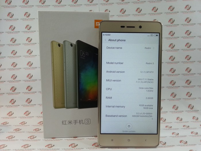 Jual Redmi 3 RAM 2GB ROM 16GB - DKI Jakarta - Victory Mobile   Tokopedia