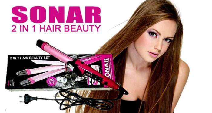 Catok rambut nova 2in1 Iron lurus keriting curly salon kecantikan