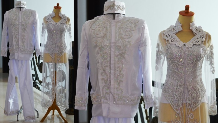 harga Kebaya pengantin couple putih akad nikah ijab kabul modern muslimah Tokopedia.com