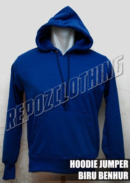 harga Jaket sweater hoodie polos biru benhur Tokopedia.com