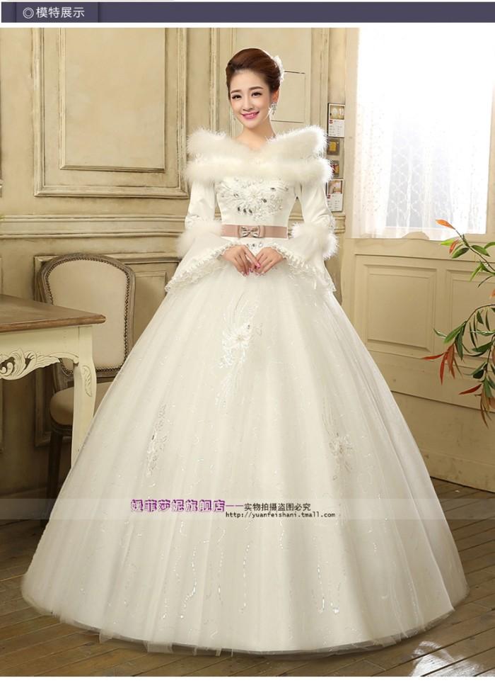 Jual Wedding Dress Gaun Pengantin Lengan Panjang Pita Korea 2015