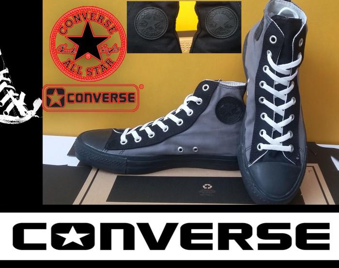 Sepatu converse all star high abu eyelet hitam + box grade original harga  ... b33411dfb1
