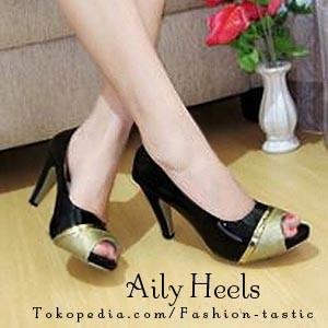 ... harga High heels sintetis glossy aily heels sm120 sepatu murah wanita keren Tokopedia.com