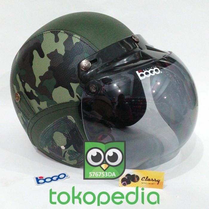 Helm Retro Bogo Import SNI Loreng Army