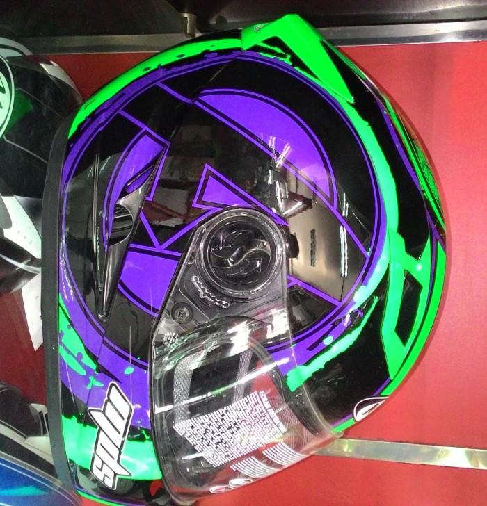 harga Helm mds provent black green full face double visor hulk avenger Tokopedia.com