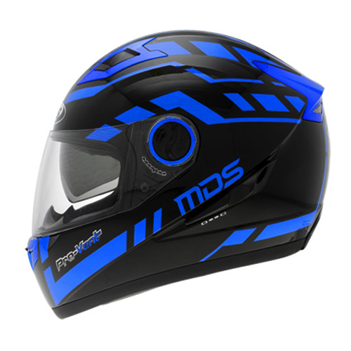 harga Helm mds provent black blue full face double visor fullface Tokopedia.com