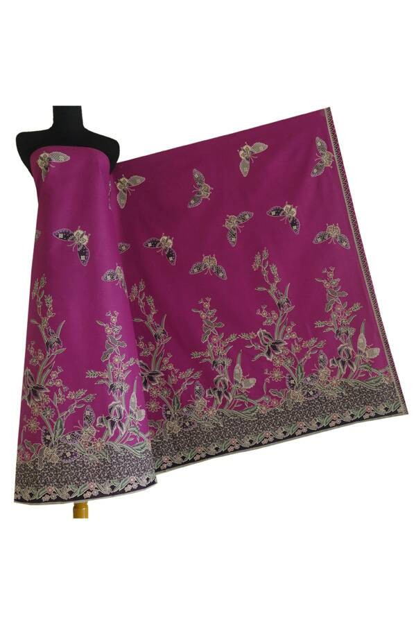 harga Kain batik katun cibulan 199 ungu Tokopedia.com