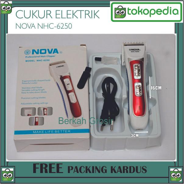 Jual Alat Cukur Rambut Elektrik Nova NHC-6250 - mesin potong pangkas ... 6ce8abb3bc