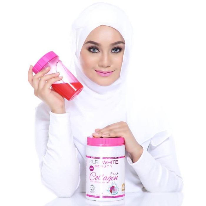 harga Aura white collagen (free shaker+serum nano) Tokopedia.com