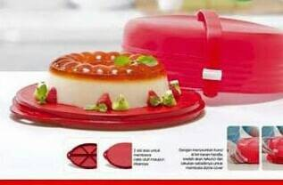 Cake Taker Merah Tupperware