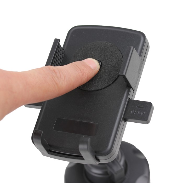 Car Universal Strong Holder 360 rotation for All Mobile Phone -Hitam .