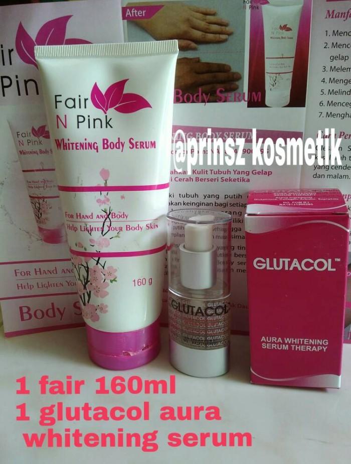 fair n pink, paket praktis (1 fair160+serum glutacol)