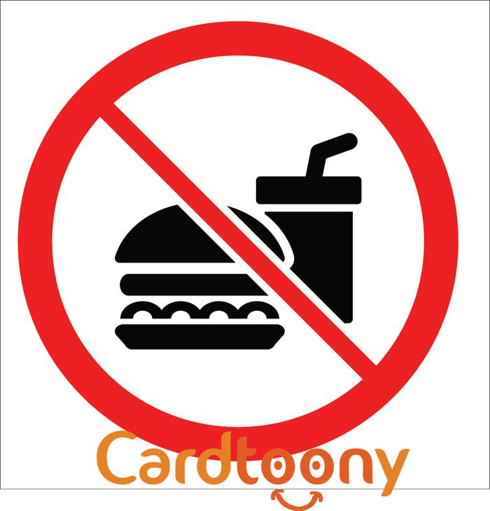Jual Sticker Stiker Tanda Peringatan Dilarang Membawa Makanan