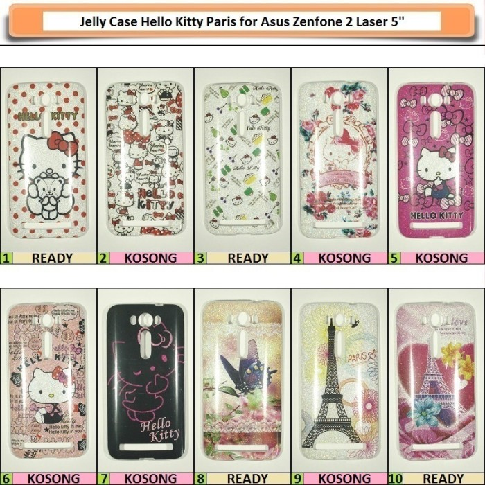 harga Asus zenfone 2 laser 5  jelly case hello kitty paris Tokopedia.com