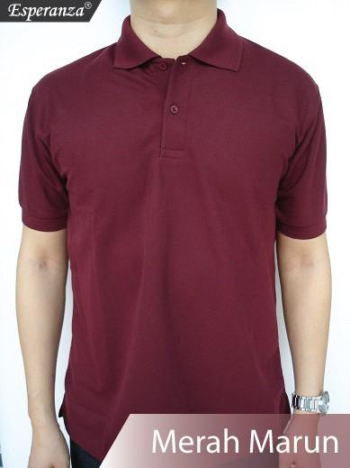 Jual Baju Kaos Polo Shirt Polos Murah Merah Marun - sesuda  8991a95301