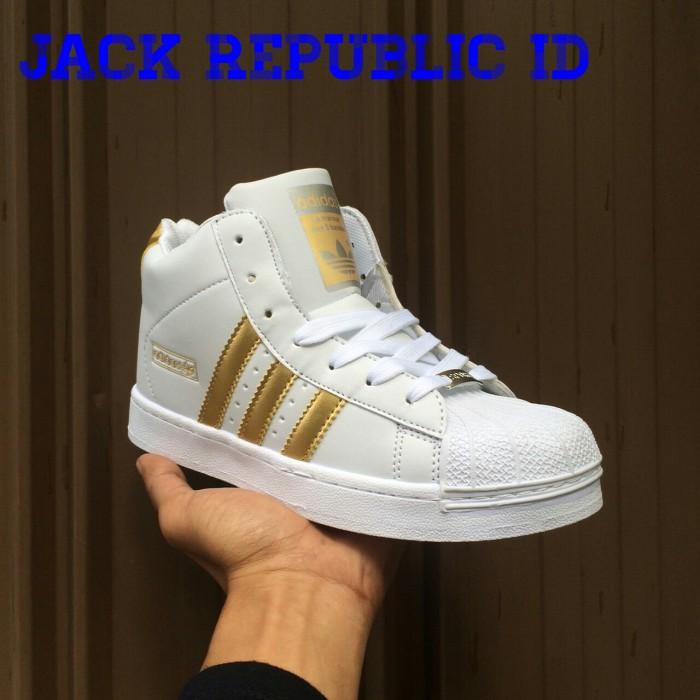 harga Sneakers sepatu adidas superstar high putih gold wedges grade original Tokopedia.com