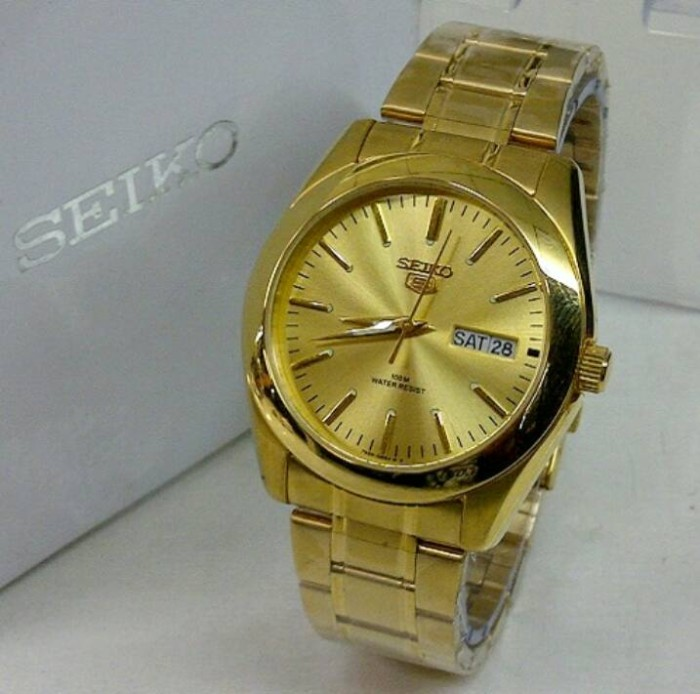 Jual Jam Tangan Seiko 5 KY7009-3040 Day Date Gold Original - zhafira ... 3ad192d76c
