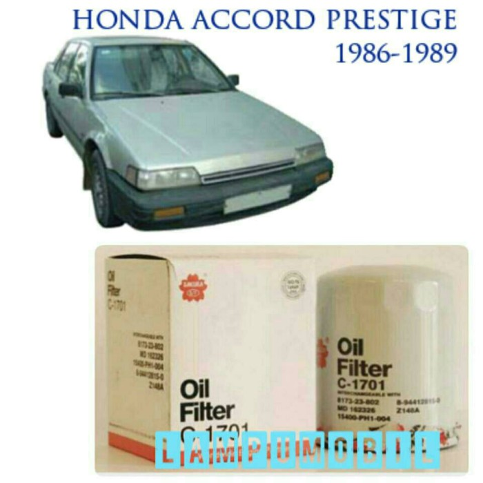 Filter oli honda accord prestige 1986-1989 bawah