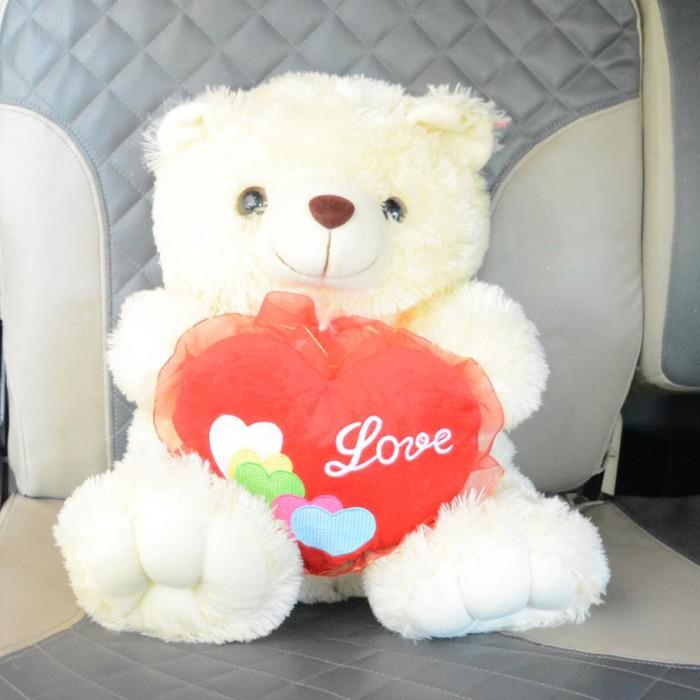 Jual Boneka Beruang Teddy Bear Love Cantik Manis Imut 50 cm Cream ... 6e89bba462