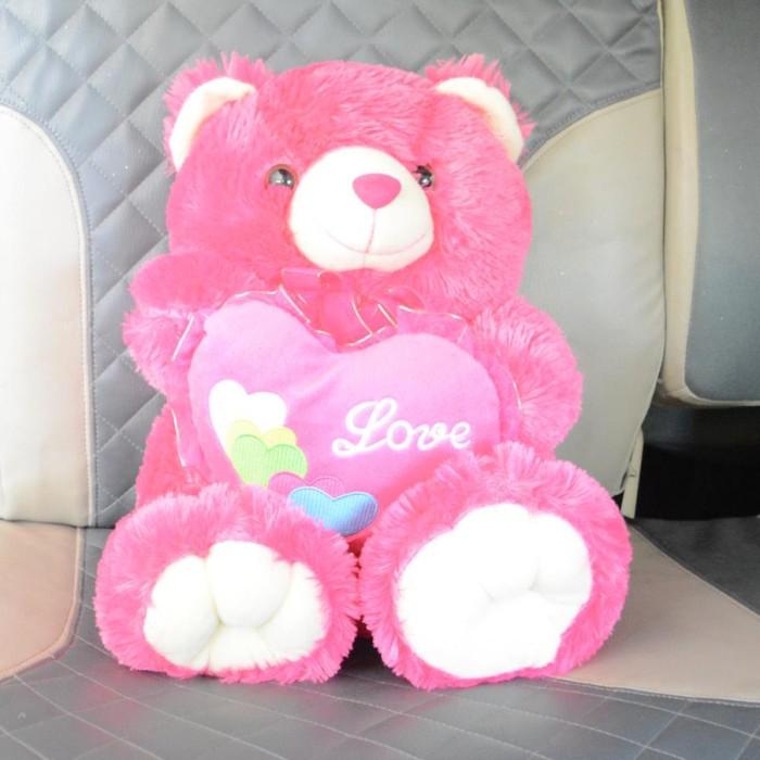 Jual Boneka Beruang Teddy Bear Love Cantik Manis Imut 50 cm Pink ... 5d228eda82