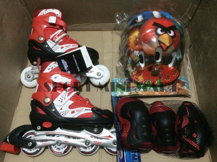Sepatu Roda + Dekker   Pelindung + Helm Inline Skate Satu Set 00a1697cf5